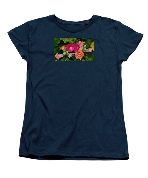Spring Show 15 Snapdragons And English Daisy Women's T-Shirt (Standard Cut) by Janis Nussbaum Senungetuk