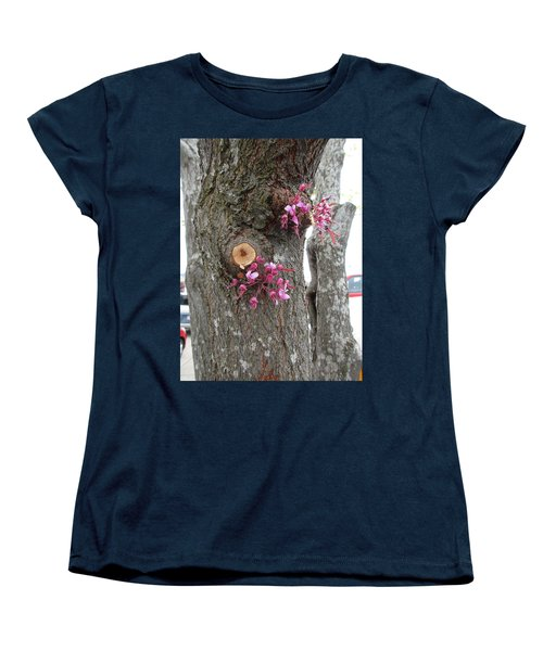 Women's T-Shirt (Standard Cut) featuring the photograph Spring Will Not Be Denied by Marie Neder