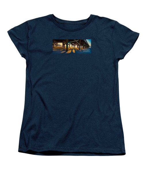 Springmaid Pier At Sunrise Women's T-Shirt (Standard Cut) by David Smith