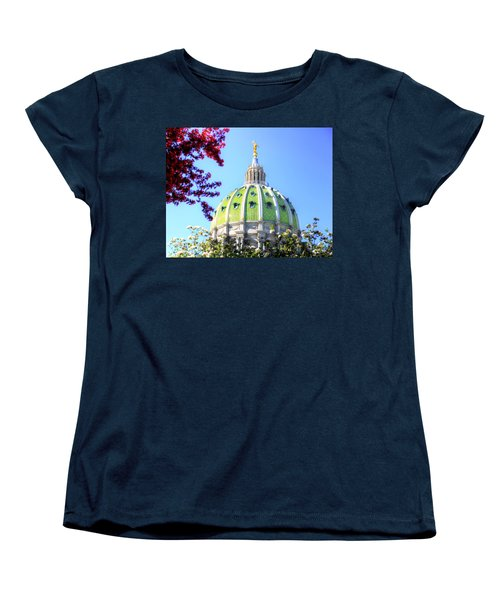 Women's T-Shirt (Standard Cut) featuring the photograph Spring's Arrival At The Pennsylvania Capitol by Shelley Neff