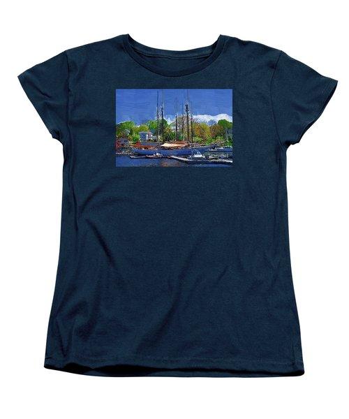 Springtime In The Harbor Women's T-Shirt (Standard Cut) by Kirt Tisdale