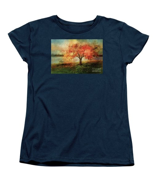 Women's T-Shirt (Standard Cut) featuring the digital art Sprinkled With Spring by Lois Bryan