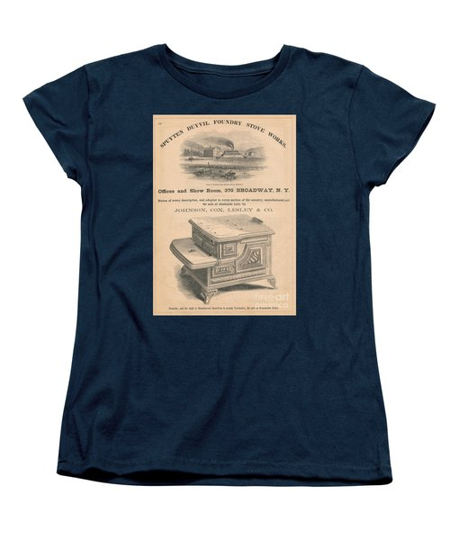 Women's T-Shirt (Standard Cut) featuring the photograph Spuyten Duyvil Stoveworks  by Cole Thompson