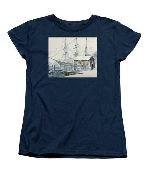 Square Rigger Women's T-Shirt (Standard Cut) by Stan Tenney