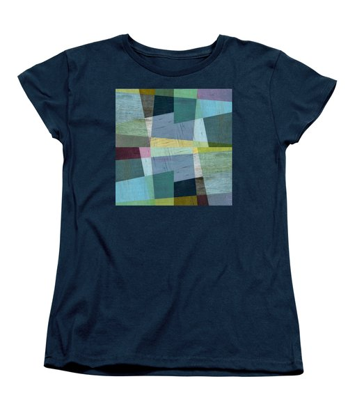 Women's T-Shirt (Standard Cut) featuring the digital art Squares And Shims by Michelle Calkins