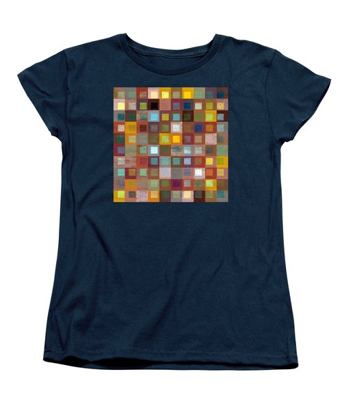 Women's T-Shirt (Standard Cut) featuring the digital art Squares In Squares Four by Michelle Calkins