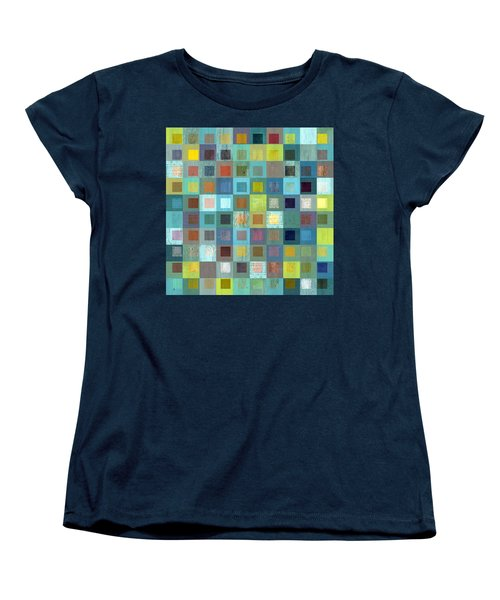 Women's T-Shirt (Standard Cut) featuring the digital art Squares In Squares Two by Michelle Calkins