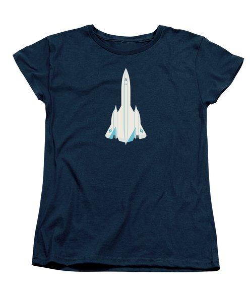 Sr-71 Blackbird Us Air Force Jet Aircraft - Slate Women's T-Shirt (Standard Cut)