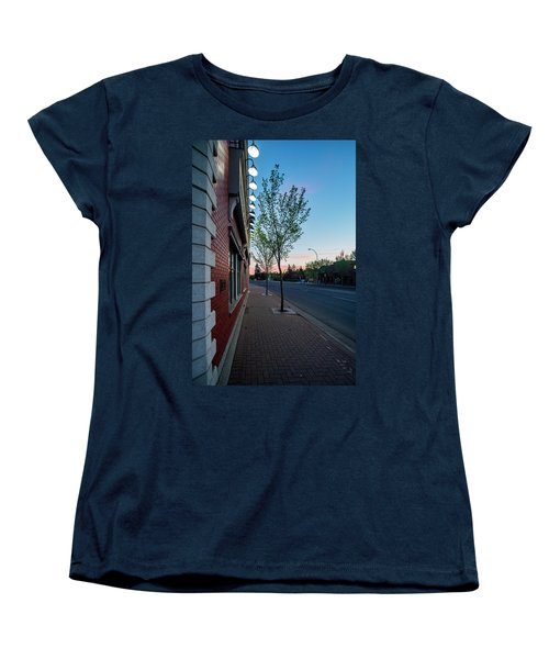 Women's T-Shirt (Standard Cut) featuring the photograph St. Anne Street At Dusk by Darcy Michaelchuk