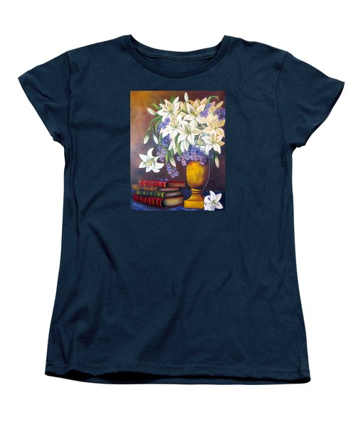St. Anthony's Lilies Women's T-Shirt (Standard Cut) by Katia Aho