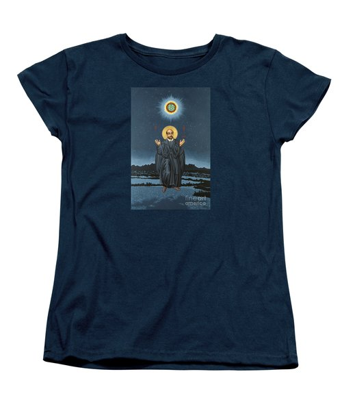 St. Ignatius In Prayer Beneath The Stars 137 Women's T-Shirt (Standard Cut) by William Hart McNichols