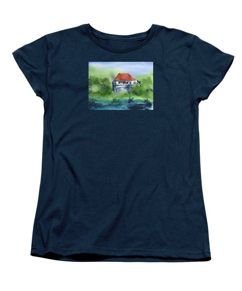 Women's T-Shirt (Standard Cut) featuring the painting St Johns Rental by Frank Bright