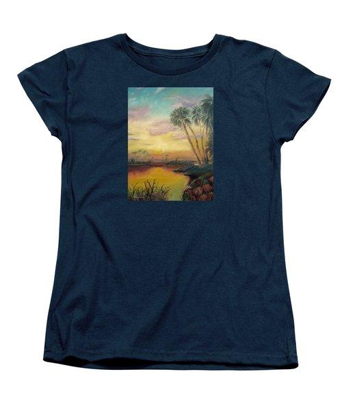 St. Johns Sunset Women's T-Shirt (Standard Cut) by Dawn Harrell