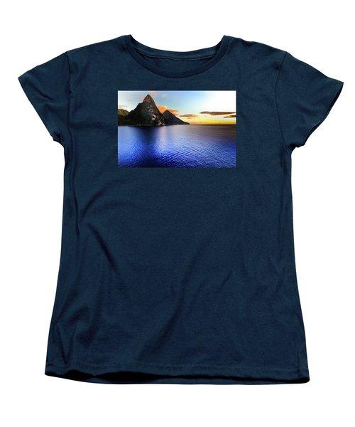 Women's T-Shirt (Standard Cut) featuring the photograph St. Lucia's Cobalt Blues by Karen Wiles