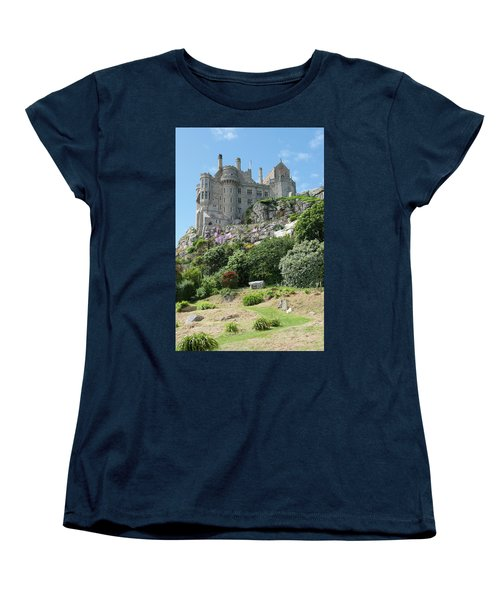 St Michael's Mount Castle II Women's T-Shirt (Standard Cut) by Helen Northcott
