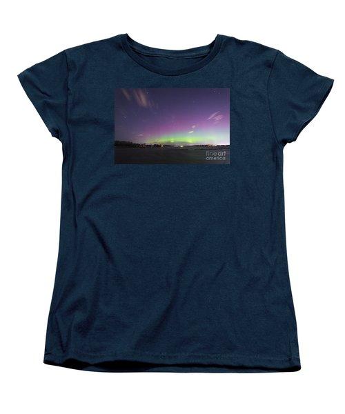 St. Patrick's Day Aurora 2015 Women's T-Shirt (Standard Cut) by Patrick M Fennell
