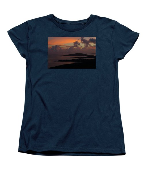 Women's T-Shirt (Standard Cut) featuring the photograph St Thomas Sunset At The U.s. Virgin Islands by Jetson Nguyen