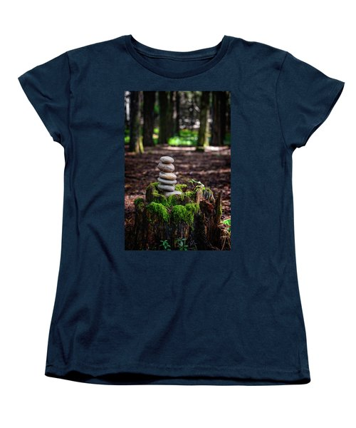 Women's T-Shirt (Standard Cut) featuring the photograph Stacked Stones And Fairy Tales IIi by Marco Oliveira