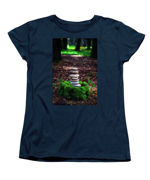 Women's T-Shirt (Standard Cut) featuring the photograph Stacked Stones And Fairy Tales Iv by Marco Oliveira