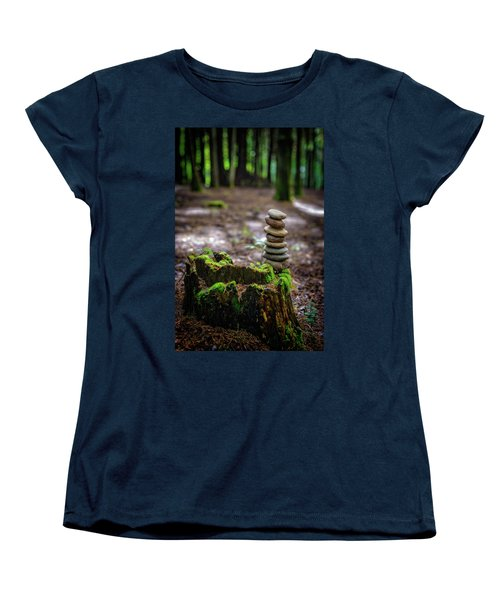 Women's T-Shirt (Standard Cut) featuring the photograph Stacked Stones And Fairy Tales by Marco Oliveira