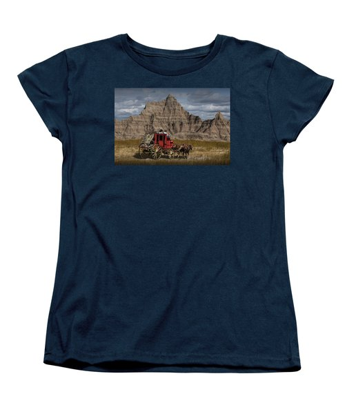 Stage Coach In The Badlands Women's T-Shirt (Standard Cut)