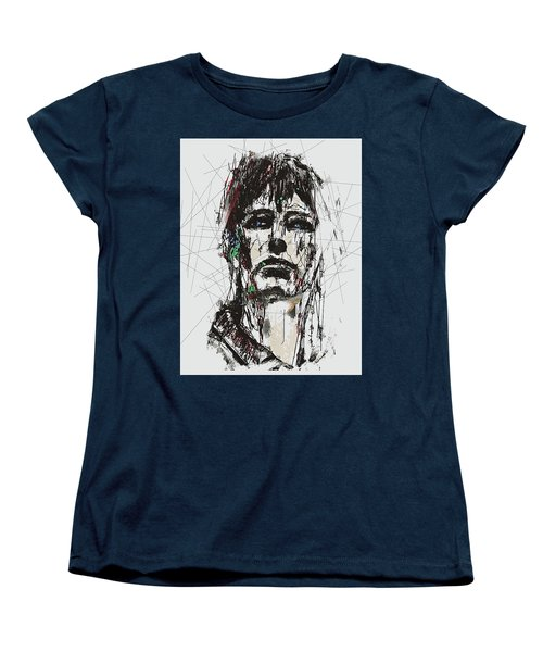 Women's T-Shirt (Standard Cut) featuring the digital art Staggered Abstract Portrait by Galen Valle