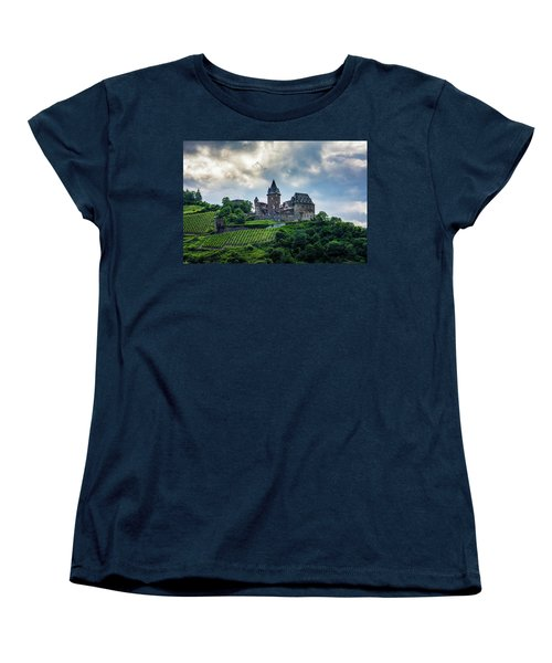 Women's T-Shirt (Standard Cut) featuring the photograph Stahleck Castle by David Morefield