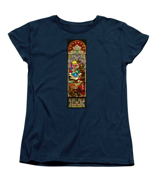 Women's T-Shirt (Standard Cut) featuring the photograph Stained Glas Scene 7 by Adam Jewell