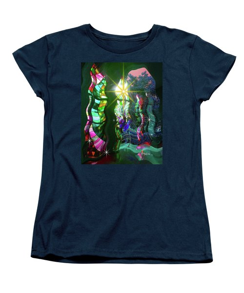 Stained Glass #4719_2 Women's T-Shirt (Standard Cut) by Barbara Tristan