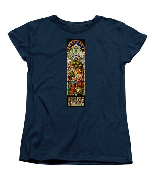 Women's T-Shirt (Standard Cut) featuring the photograph Stained Glass Scene 9 by Adam Jewell