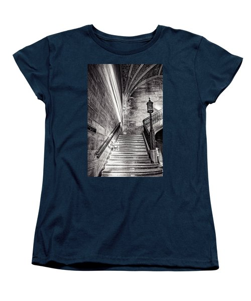 Stairs Of The Past Women's T-Shirt (Standard Cut) by CJ Schmit