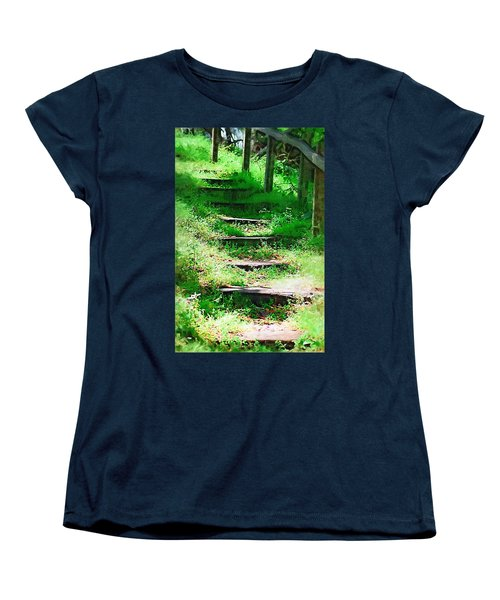 Women's T-Shirt (Standard Cut) featuring the photograph Stairway To Heaven by Donna Bentley
