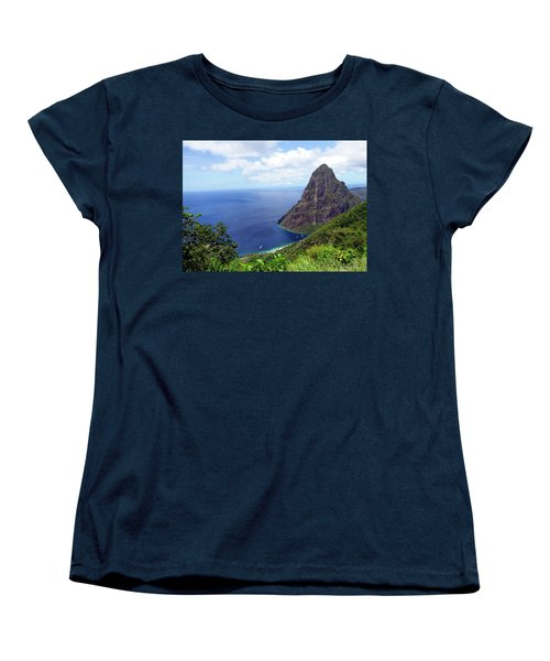 Women's T-Shirt (Standard Cut) featuring the photograph Stairway To Heaven View, Pitons, St. Lucia by Kurt Van Wagner