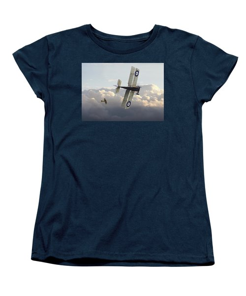 Women's T-Shirt (Standard Cut) featuring the digital art Stalked - Se5 And Albatros Dlll by Pat Speirs