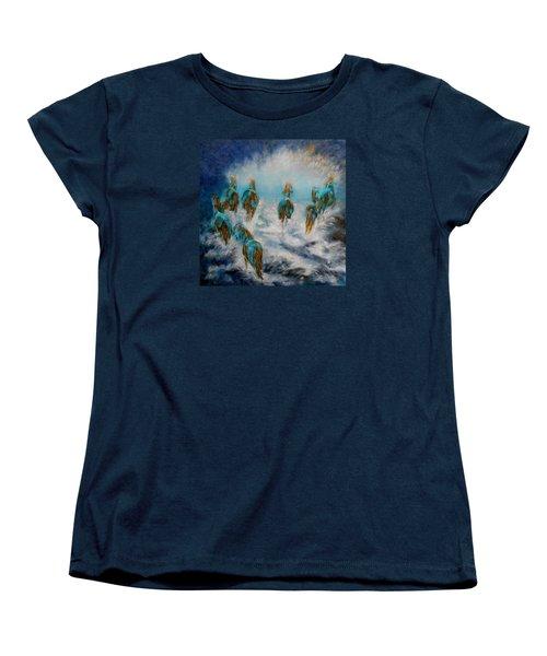 Stampede To Heaven Women's T-Shirt (Standard Cut) by Maris Sherwood