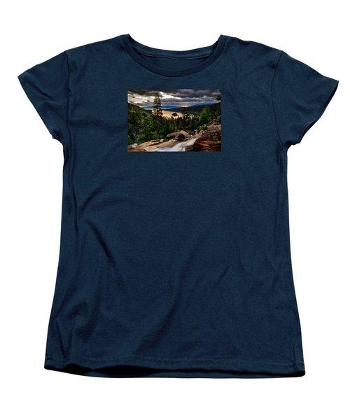 Standing At Eagle Falls Women's T-Shirt (Standard Cut)