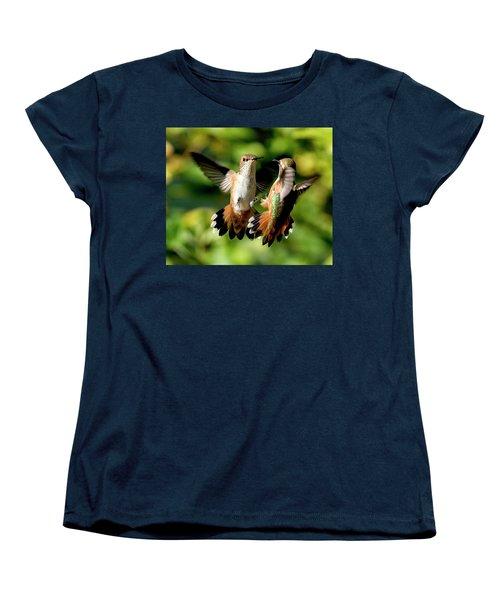 Standoff Women's T-Shirt (Standard Cut) by Sheldon Bilsker