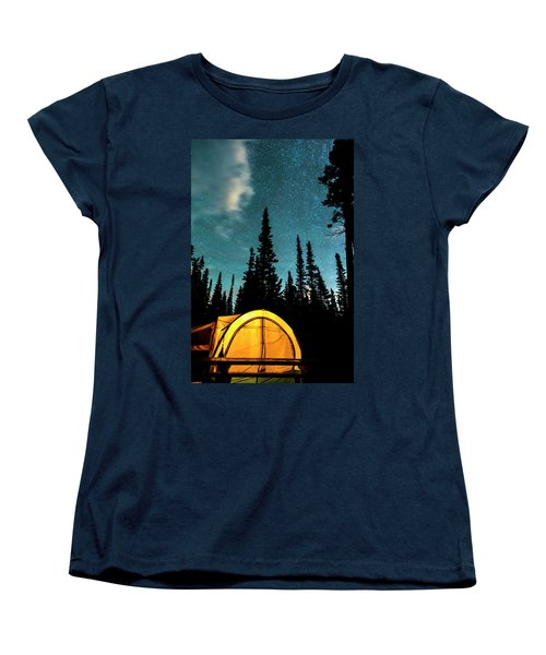 Women's T-Shirt (Standard Cut) featuring the photograph Star Camping by James BO Insogna