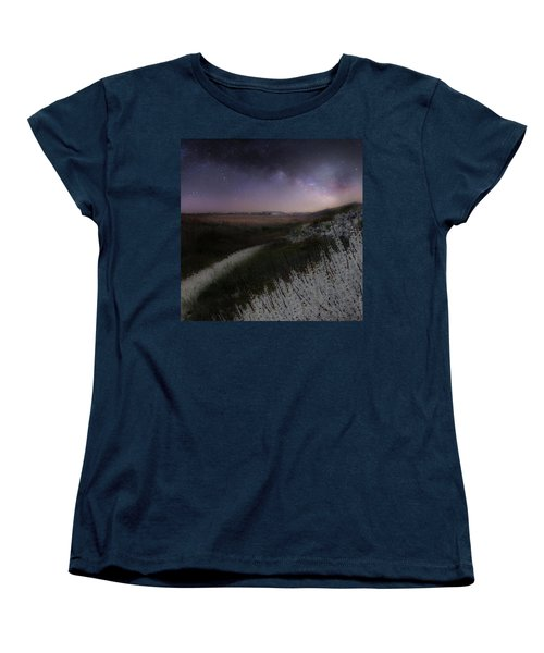 Women's T-Shirt (Standard Cut) featuring the photograph Star Flowers Square by Bill Wakeley