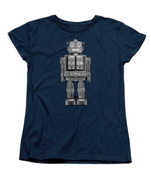 Star Strider Robot Red Bw Women's T-Shirt (Standard Cut) by YoPedro