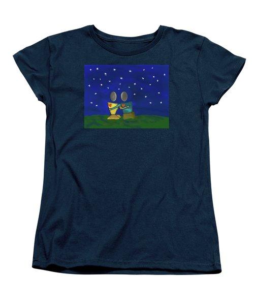 Star Watching Women's T-Shirt (Standard Cut) by Haleh Mahbod