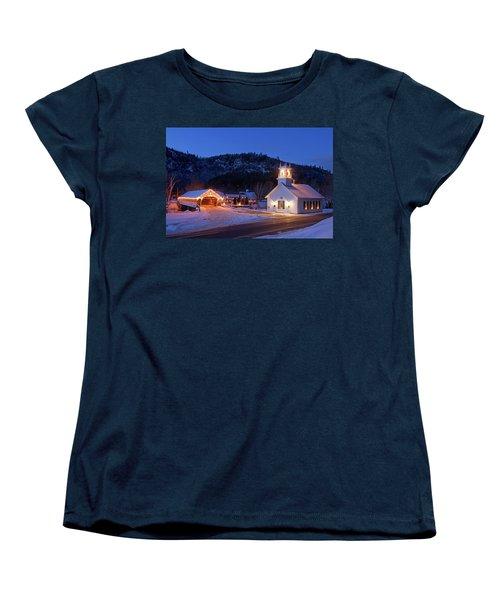 Women's T-Shirt (Standard Cut) featuring the photograph Stark New Hampshire by Robert Clifford
