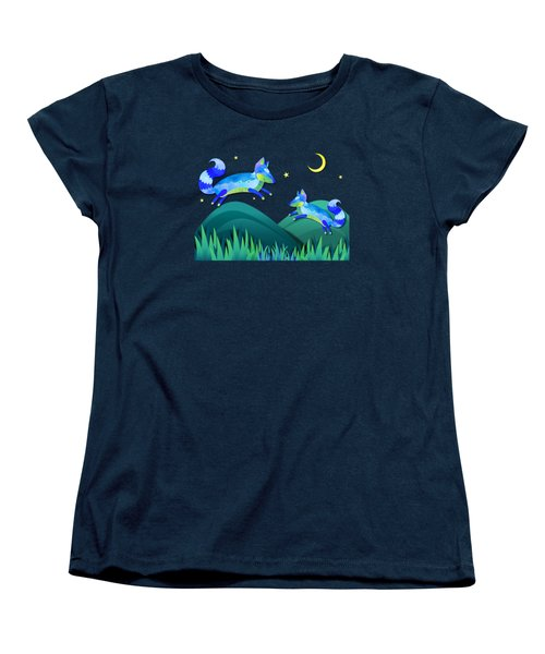 Starlit Foxes Women's T-Shirt (Standard Cut) by Little Bunny Sunshine
