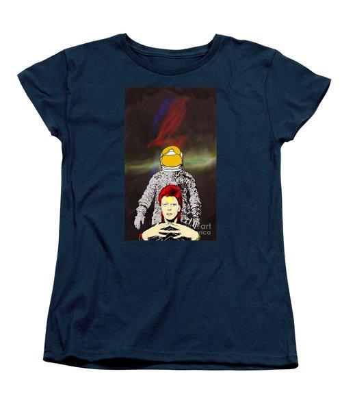 Starman Bowie Women's T-Shirt (Standard Cut) by Jason Tricktop Matthews