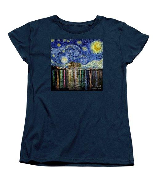 Starry Night In Destin Women's T-Shirt (Standard Cut) by Walt Foegelle
