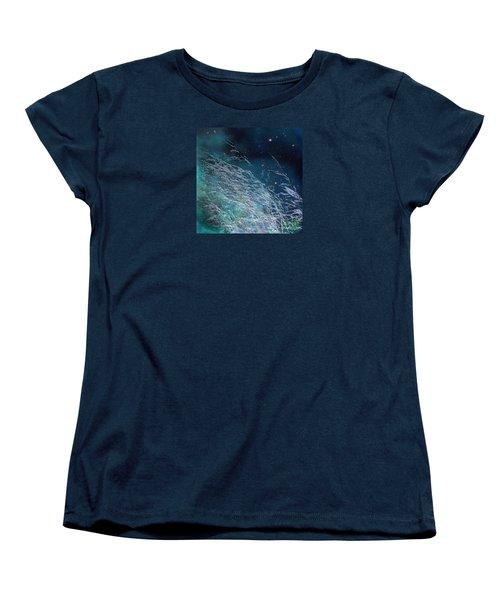 Women's T-Shirt (Standard Cut) featuring the photograph Starry Sky Grass by Yulia Kazansky