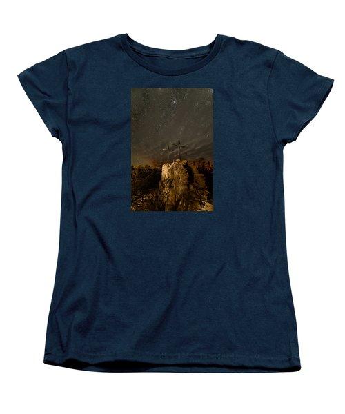 Stars And Crosses Women's T-Shirt (Standard Cut) by Allen Biedrzycki