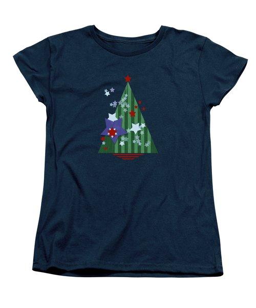 Stars And Stripes - Christmas Edition Women's T-Shirt (Standard Cut) by AugenWerk Susann Serfezi