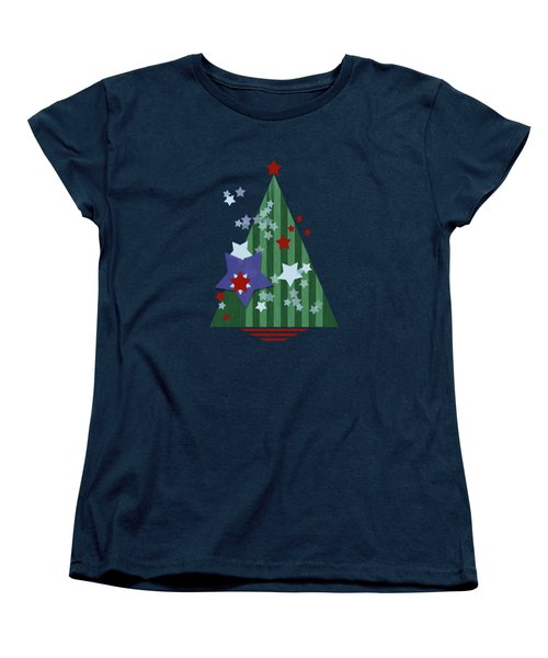 Stars And Stripes - Christmas Edition Women's T-Shirt (Standard Fit)