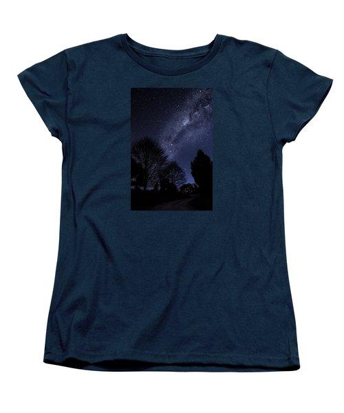 Stars And Trees Women's T-Shirt (Standard Cut) by Martin Capek